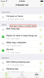 How to check items