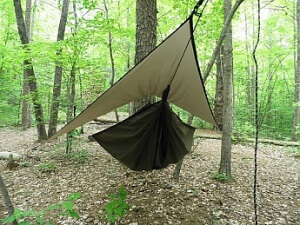 Ultralight camping hammock